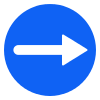 Free Blue Circle Right Arrow Vector Icon