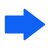 Free Blue Right Arrow Vector Icon