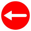 Free Red Circle Left Arrow Vector Icon