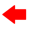 Free Red Left Arrow Vector Icon