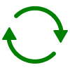 Free Green Vector Refresh Icon