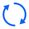 Free Blue Vector Refresh Icon