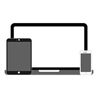 Free Laptop, iPad and iPhone Vector Icon